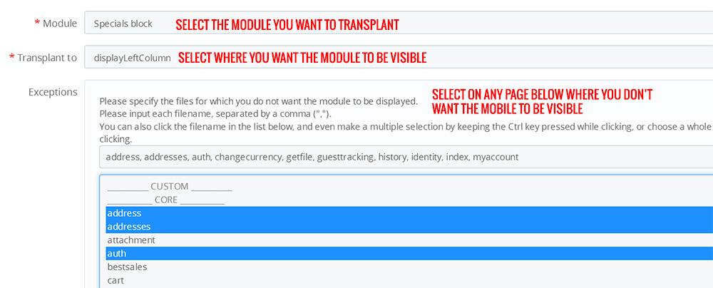 Transplanting Modules